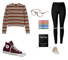sweaters are great by stinkhead on Polyvore featuring polyvore, fashion, style, Monki, Converse, Topshop, Charlotte Russe, Paper Mate and clothing