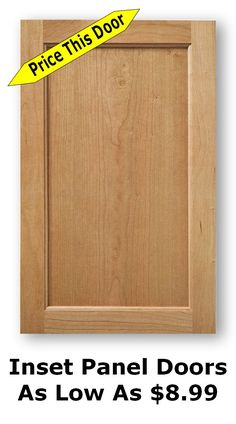 Inset panel cabinet doors can be built in any size to fit your cabinets or your application. New Kitchen Cabinet Doors, Replacement Kitchen Cabinet Doors, Shaker Style Kitchen Cabinets, Shaker Cabinet Doors, Wood Cabinet Doors, Shaker Style Kitchens, Cabinet Door Styles, Kitchen Cabinet Styles, Kitchen Cabinet Storage