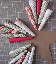 Tutorial How to make a Christmas Paper Cone Star Wreath with Echo Park Paper Christmas Note, Christmas Front Doors, Christmas Paper, Homemade Christmas, Rustic Christmas, Classy Christmas, White Christmas, Christmas Ideas, Christmas Wreaths