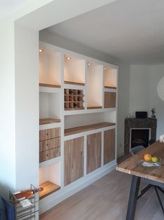 Dinning Room Tables, Dining Room Design, Kitchen Wall Units, Closet Layout, Pretty Room, Front Rooms, Piece A Vivre, Dining Room Inspiration, Grey Walls