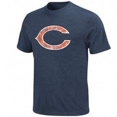 Chicago Bears Vintage Logo III T-Shirt - Navy Blue