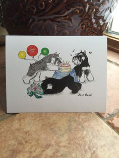A personal favorite from my Etsy shop https://www.etsy.com/listing/217784904/birthday-schnauzer-notecard