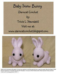 Crocheted bunnies   so cute