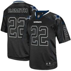 NFL Mens Elite Nike Dallas Cowboys #22 Emmitt Smith Lights Out Black Jersey$129.99
