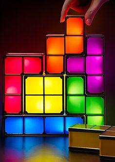 Spotlight your love of Tetris, literally, with this