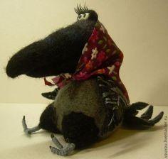 Игрушки животные, ручной работы. Ярмарка Мастеров - ручная работа. Купить Деревенская ворона. Handmade. Авторская игрушка, валяная игрушка