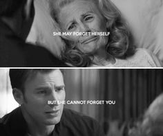 She may forget herself, but she cannot forget you - Steve and Peggy