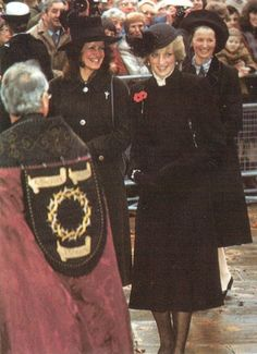 princess diana at falklands service 1982 images | 1982-Attended a service of Remembrance at Wellington Barracks
