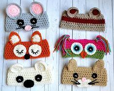 Crochet Animal Ear Warmers pattern by Christins from My Sweet Potato 3 -all sizes Crochet Mouse, Cute Crochet, Crochet For Kids, Crochet Crafts, Yarn Crafts, Knit Crochet, Crochet Beanie, Crochet Teddy, Crochet Winter