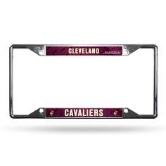 Cleveland Cavaliers License Plate Frame Chrome EZ View