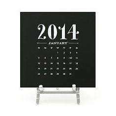 Sugar Paper Black Desk Calendar Home - Bloomingdale's Calendar 2014, Online Calendar, Calendar Ideas, Happy New Year 2014, Kitchen Paint Colors, Happy Hanukkah, Gifts For Your Mom, Desk Calendars, Office Accessories
