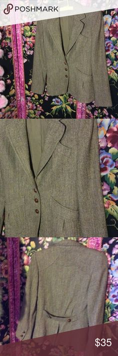 Selling this Vtg fitted wool tweed jacket on Poshmark! My username is: patriciamildred. #shopmycloset #poshmark #fashion #shopping #style #forsale #Vintage #Jackets & Blazers