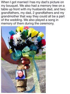 Dad Pictures, Memory Tree, Wedding Memorial, I Got Married, Marry Me, That Way, Bouquet, Memories, Memoirs