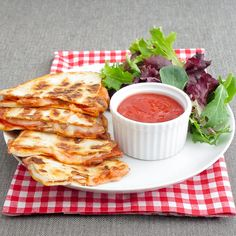 Pepperoni pizza quesadillas-my husband was just asking about these last night!