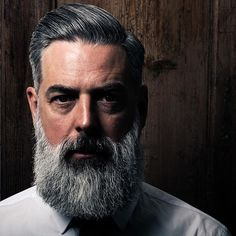 Great shot by UK Barber @tomchapman_tcxhd for @dreadnoughtshaving - using their Pomade and Beard Oil. Image = @beardof77
