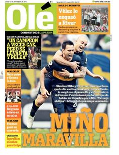 Lunes 17 de Septiembre del 2012. http://www.ole.com.ar/la-tapa/
