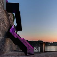 Coast Path Staircase at Royal William Yard by Gillespie Yunnie Architects