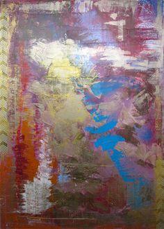 Distribution de couleurs. Tableau sur bois 140 X 100 cm.  Technique mixte.