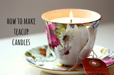 I love candles and I love vintage tea cups so I thought it would be perfect to do a crafts fusing the two together Candle Making Kit - http://fave.co/1f7mQOf...