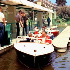 Vintage Tomorrowland, I totally thought I was driving this boat!