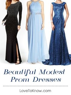 Finding a modest prom dress may seem hard to do since many of the more popular dress styles tend to be revealing. However, with a little searching, you'll find a dress that makes you feel comfortable and beautiful without showing off too much skin. With the right accessories, you can also adapt more revealing dresses to be modest.