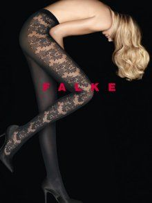 FALKE Opaque Flower Tights at Tightsplease