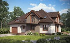 . Small House Layout, House Layouts, Dream Home Design, Home Design Plans, Modern Bungalow House, Beautiful House Plans, Cute House, Dream House Exterior, Village Houses