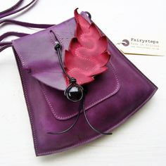 YSABEL in Violet 2408, Leather small messenger Bag, by Fairysteps. £48.00, via Etsy.