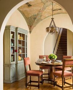 1920s Spanish Colonial home, breakfast room.