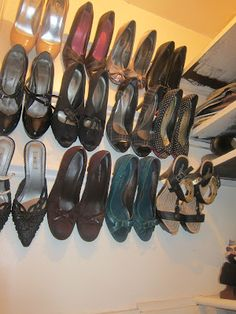 Easy Crown Molding Shoe Holder! Girly Project: High Heel Hideaway!