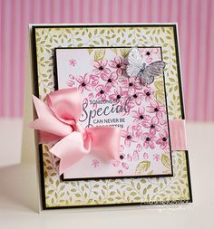 Spring card using 3 new JustRite sets!