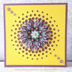 Glückwunschkarten - Grußkarten Set ST032 Blumen Mandala - ein Designerstück von Bastelfan1809 bei DaWanda