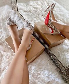 Red Bridal Shoes, Bridal Lace, Red Sole Heels, Stiletto Heels, Shoes Heels, Womens High Heels, Fashion Shoes, Christian Louboutin, Like4like