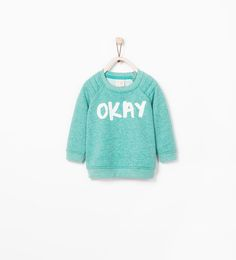 SWEATSHIRT WITH TEXT DESIGN-Sweatshirts-Baby boy (3 months - 3 years)-KIDS | ZARA United States