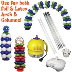 Balloon Arch and Column Decoration WITHOUT Helium