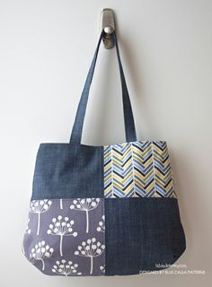 The Poppy Patchwork Tote Bag PDF Pattern - New pattern Sale!