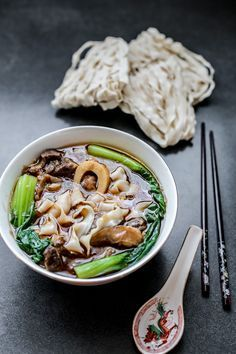 Taiwanese Beef Shank Noodle Soup – Sweet Food – Famous Last Words Noodle Recipes, Meat Recipes, Asian Recipes, Noodle Soups, Oriental Recipes, Asian Desserts, Vegetable Soup Healthy, Healthy Vegetables, Healthy Food