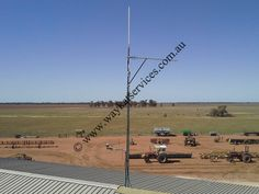 One of the other needs for this Project was Telstra NextG Fixed wireless and Voice in the main tractor shed for this we needed to install a single RFI yagi antenna pointed off to a remote Telstra base station. North Western, Tractor, Utility Pole, Wind Turbine, Westerns, The Voice, Maine, Remote, Shed