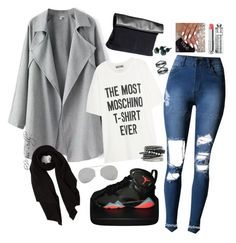 """""""Untitled #91"""" by missreddy on Polyvore featuring Moschino, NIKE, Cash Ca, H&M, Acne Studios, Christian Dior and Eva Fehren"""