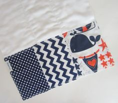 Baby Burpcloths - Nautical Baby Burp Cloth / Navy Chevron Baby / Designer Baby Boutique / Custom Baby Gifts on Etsy, $9.00