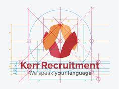 Kerr Recruitment Logo & Brand Identity Design designed by The Logo Smith - Logo & Brand Identity Studio. Brand Identity Design, Branding Design, Logo Design, Graphic Design, Portfolio Logo, Portfolio Design, Smile Logo, Logo Branding, Logos