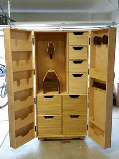 Horse Tack Armoire I built. Made with Baltic Birch, poplar and black walnut. Horse Gear, Dream Barn, Horse Tack Rooms, Horse Stables, Horse Farms, Tack Room Organization, Horse Trailer Organization, Cavalli, Tack Locker