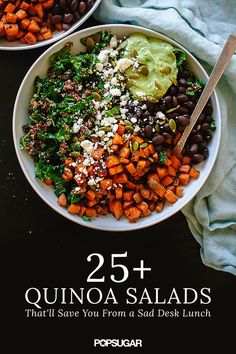 Leftovers from three nights ago? No thank you. These bright and flavorful quinoa salads are bringing life back to lunch. Not only is quinoa a super healthy ingredient filled with protein, but it's so easy to mix with almost anything. Click here to get all of the anti-boring salad inspiration you've been searching for.
