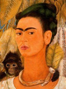 Autorretrato con mono - (Frida Kahlo)