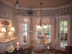 cute...I love everything about this space ~ Ideas for the new home.  I could sure stay here awhile.