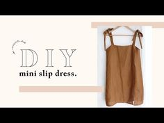 DIY: Slip Dress with Leg Splits — The Essentials Club // Creative DIY Hub Source by nastyavasileva Dresses Diy Clothing, Sewing Clothes, Fashion Sewing, Diy Fashion, Diy Mode, Mini Slip Dress, Dress Tutorials, Diy Sewing Projects, How To Make Clothes
