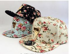 Floral Flower Snapback Hip Hop Hat Flat Peaked Adjustable Baseball Cap-in Baseball Caps from Men's Clothing & Accessories on Aliexpress.com | Alibaba Group