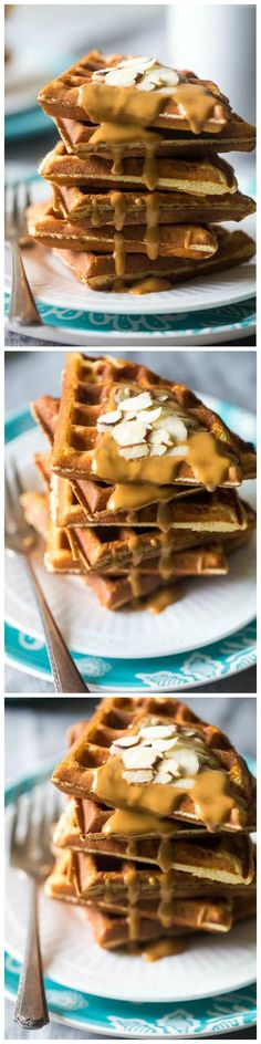 Protein Paleo Waffles - These single-serving paleo waffles are packed with protein, and are ready in 5 minutes so you can have healthy, gluten free waffles any day of the week!