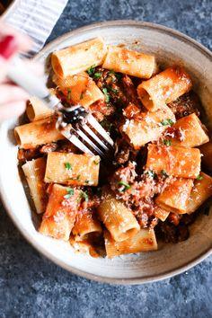 Lamb Ragu With Rigatoni – The Defined Dish Seafood Dishes, Pasta Dishes, Lamb Ragu, Cooking Sheet, Gluten Free Pasta, Pasta Recipes, Rigatoni Recipes, Beef Recipes, Dinner Recipes
