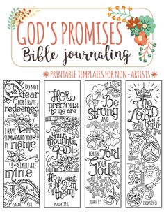 GOD'S PROMISES - Bible journaling printable templates